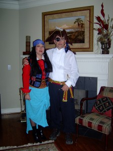 My pirate and me.