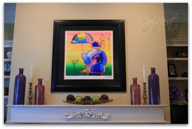 Peter Max over the Mantel
