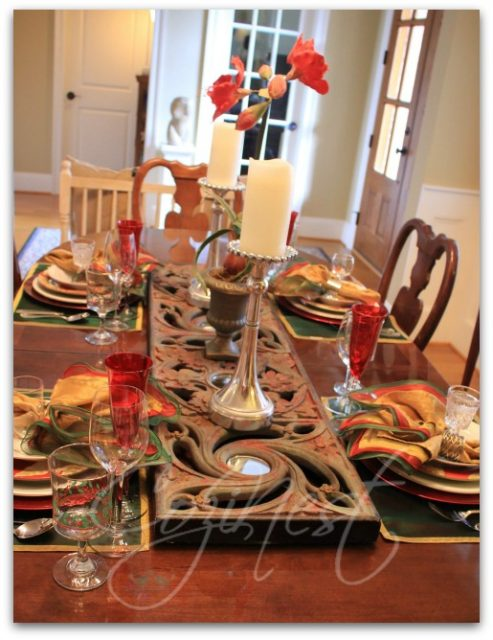 Christmas Tablesetting for Four