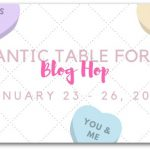 Romantic Tablescape for Two Bloghop