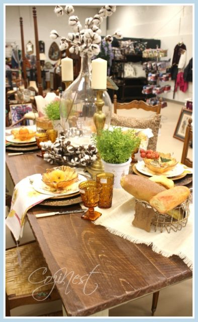 Fall Table with Antiques