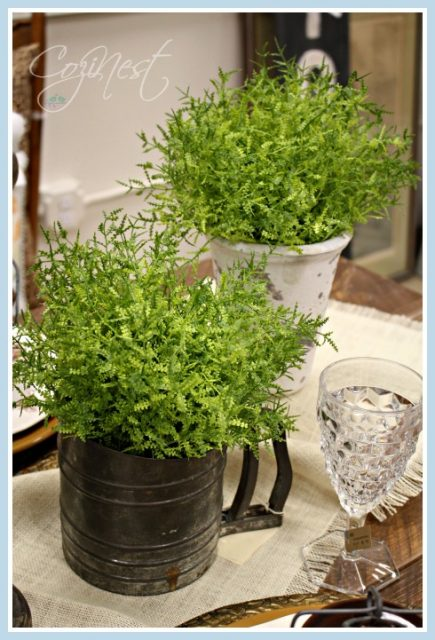 Sifter with Greenery