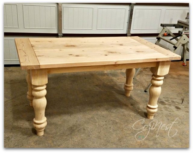 Unfinished Farmhouse Table
