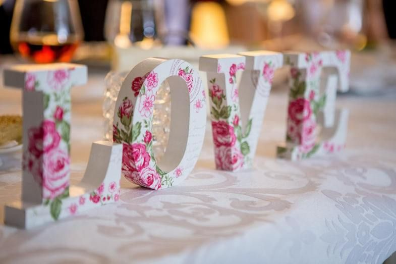 accents and decor love letters