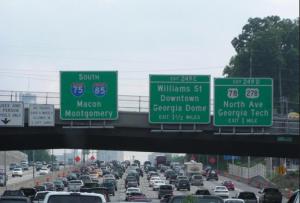 I 75 Traffic in Atlanta. Photo Credit: librarything.com
