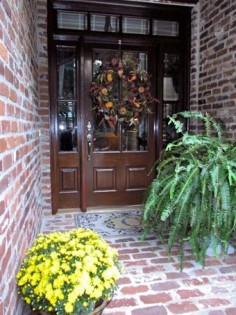 A welcoming entrance.