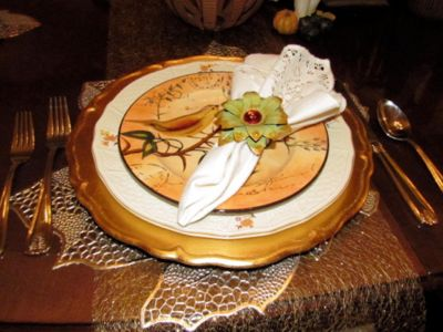 Great Things include an Autumn Place Setting