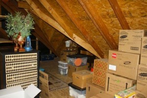 Packing up the attic.