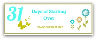 31 Days of Starting Over