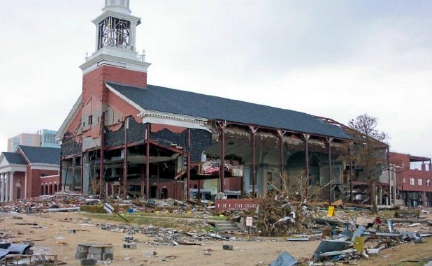 First Baptist Church of Gulfport after Hurricane Katrina
