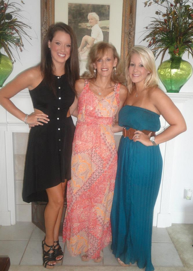 My friend, Linda, with her two daughters.