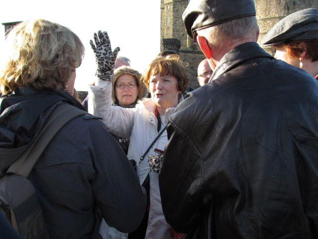Pat, our Edinburgh tour guide.