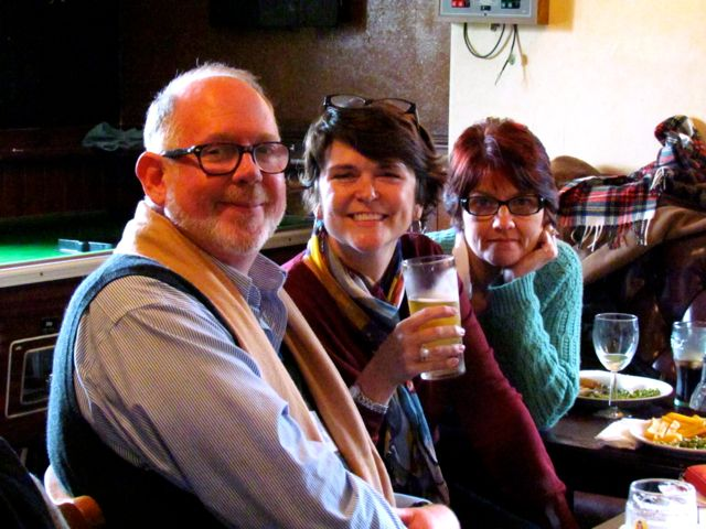 Paul, Trudy and Wilma having lunch at Three Tuns Pub.