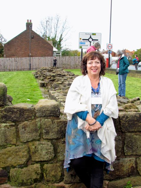Me beside Hadrian's Wall