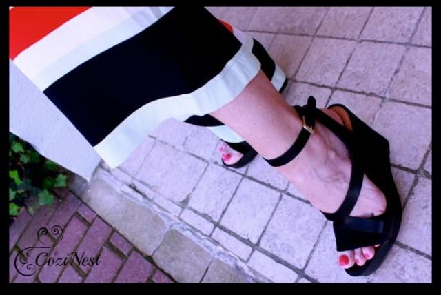 Dolce Vita Black Wedge Sandal