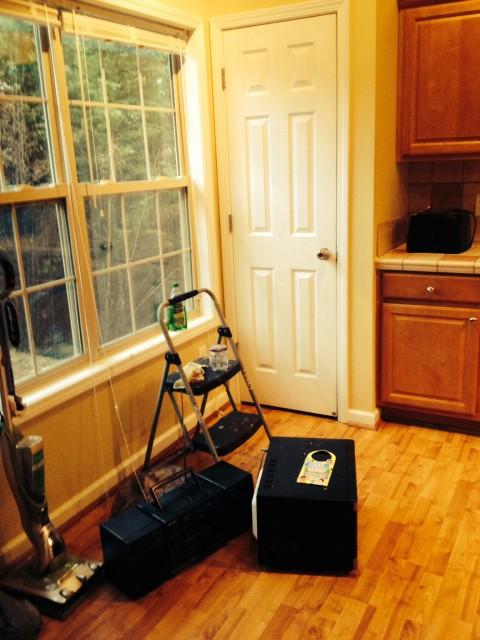 Before: kitchen nook