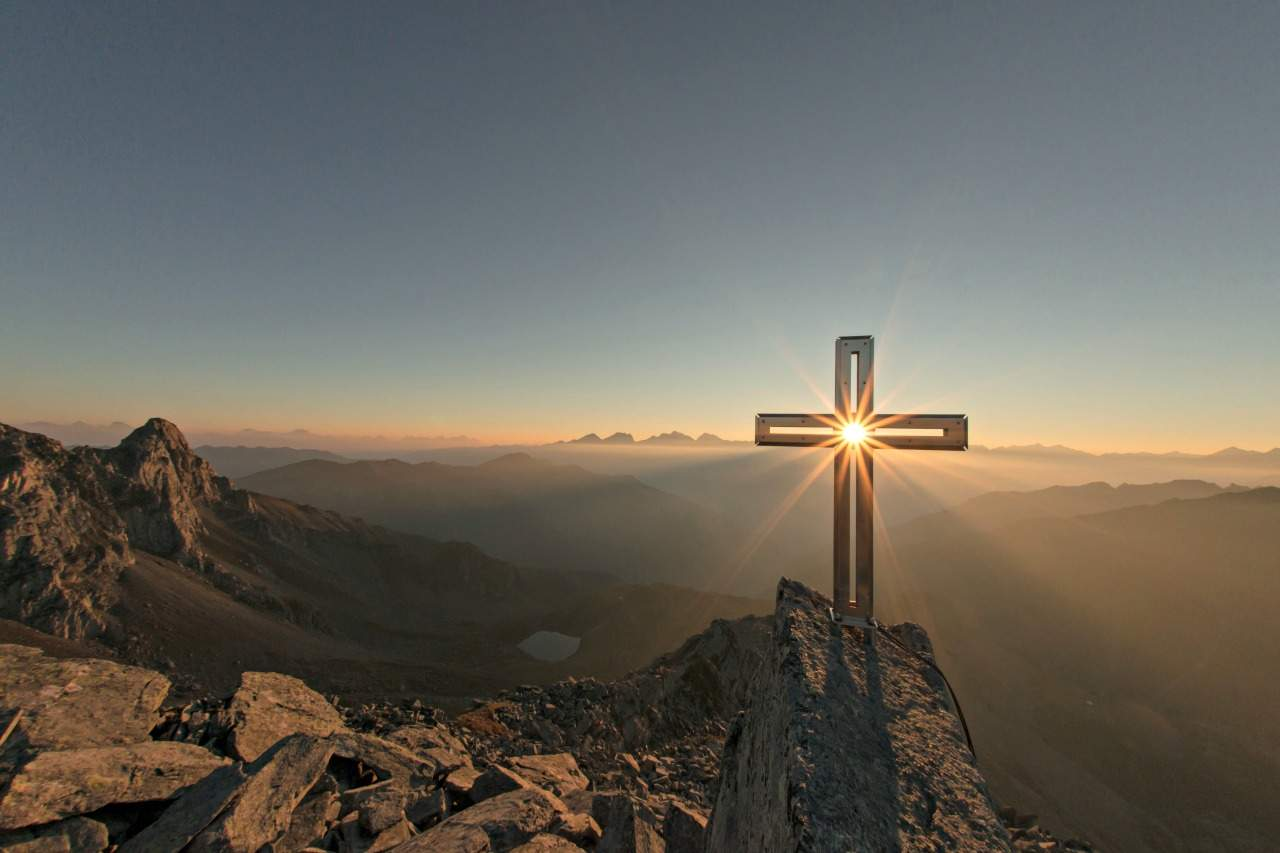 Sunrise through the Cross