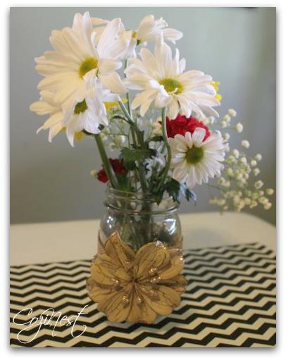 Mason Jar of Flowers
