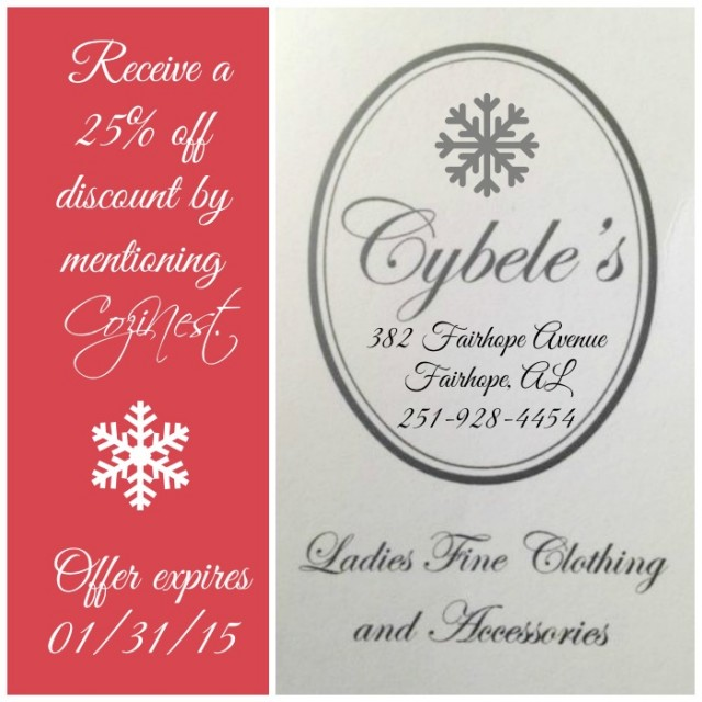 25% off at Cybele's