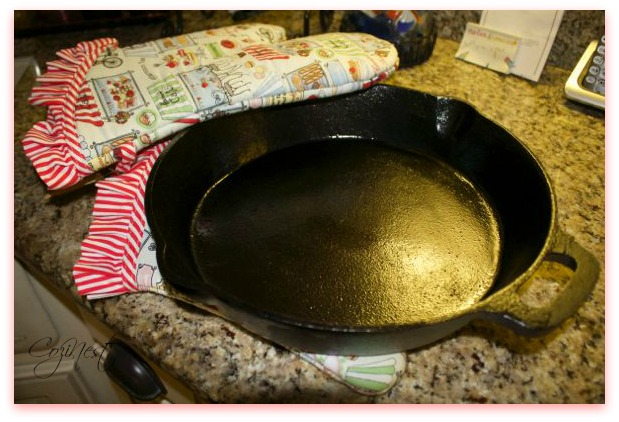 Oven Mitts with Skillet