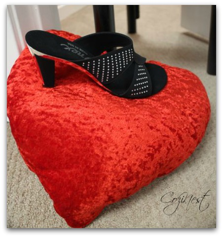 Slipper on Heart Pillow