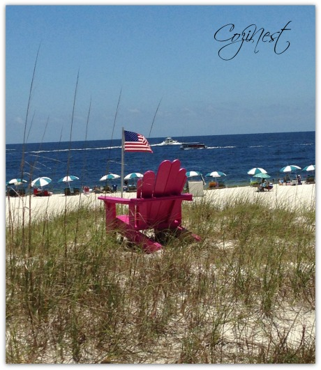 Memorial Chair with Old Glory