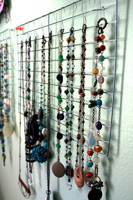 craftyhope necklaces on wire cooling racks ornament hooks