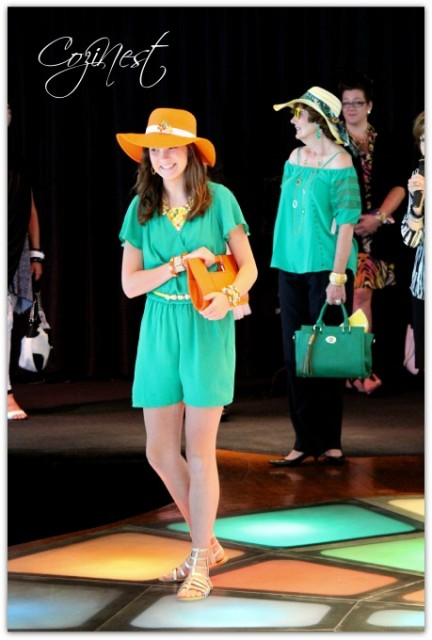 Orange Clutch and Hat