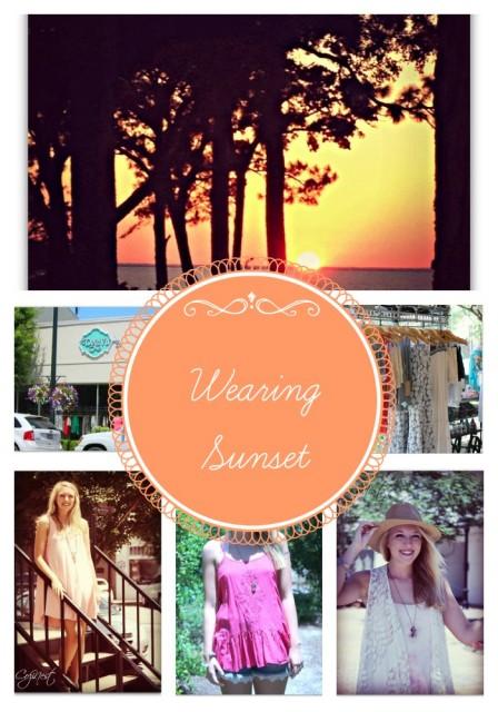 Wearing Sunset Collage