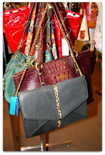 Handbag with Animal Print Accent