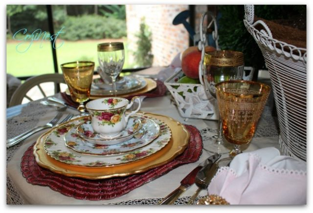 Old Country Rose Place Setting