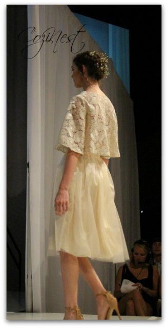 cream lace crop top and skirt