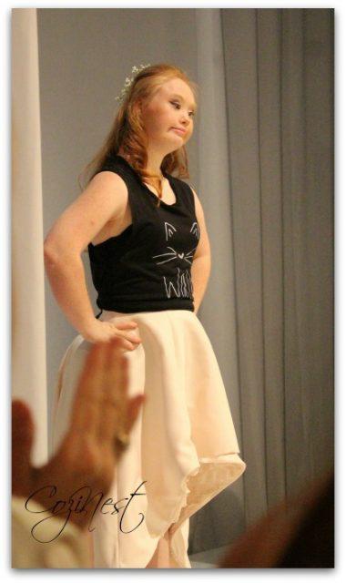 Madeline Stuart at Birmingham Fashion Week