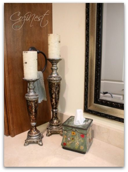 candlesticks with tissue cover