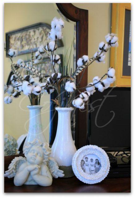 Cotton, Cherub and White Picture Frame