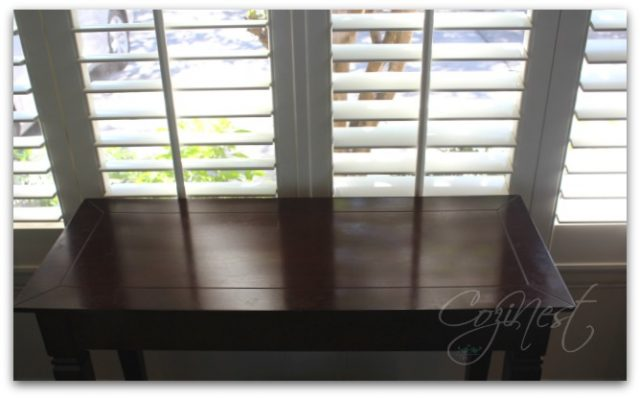 Console Table in Window