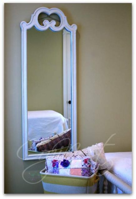 A full length mirror is a must in a guest room.