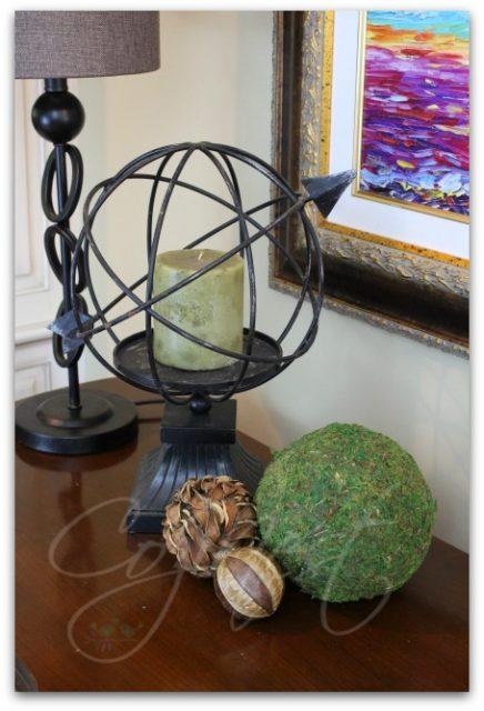 Globe with Spheres