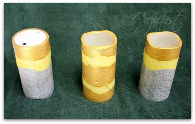 gold leafed candles