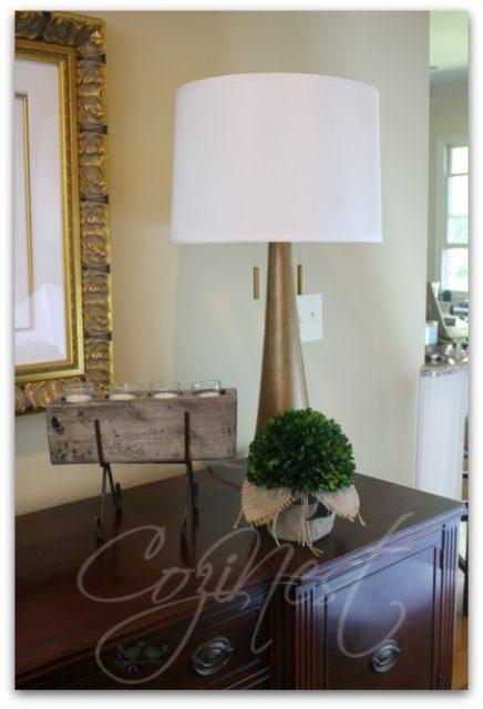Lamp, Votive and Greenery