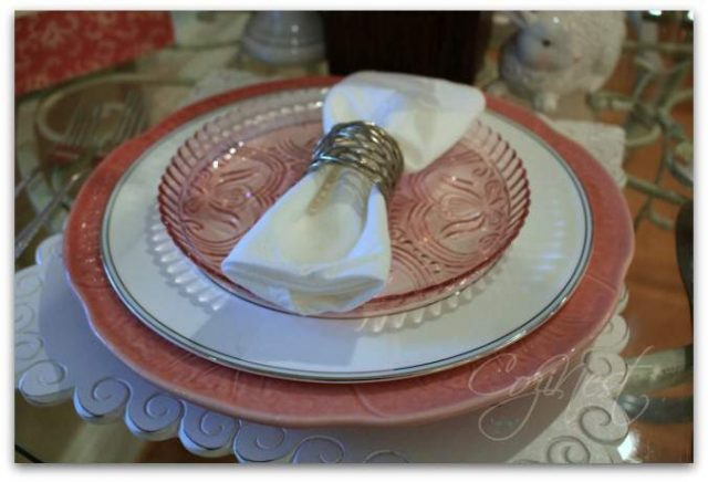 Pink Depression Salad Plates