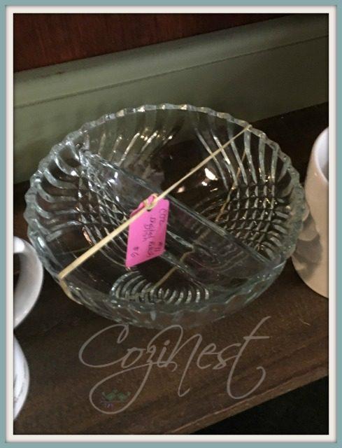 divided crystal bowl