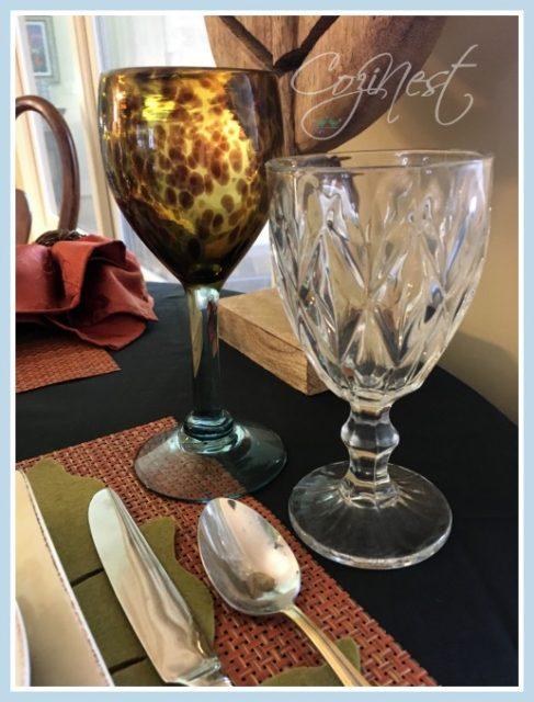 leopard glassware