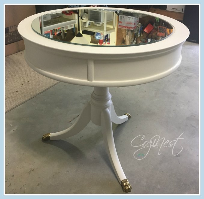 painted duncan phyfe table