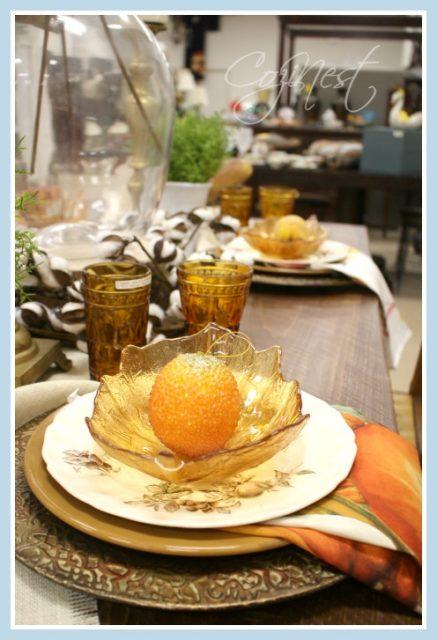 Amber leaf bowl