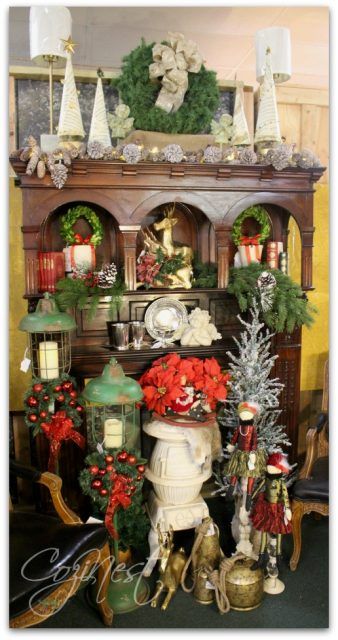traditional christmas mantle