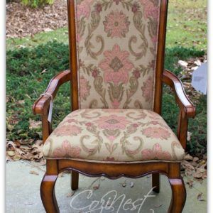 French Floral Chair
