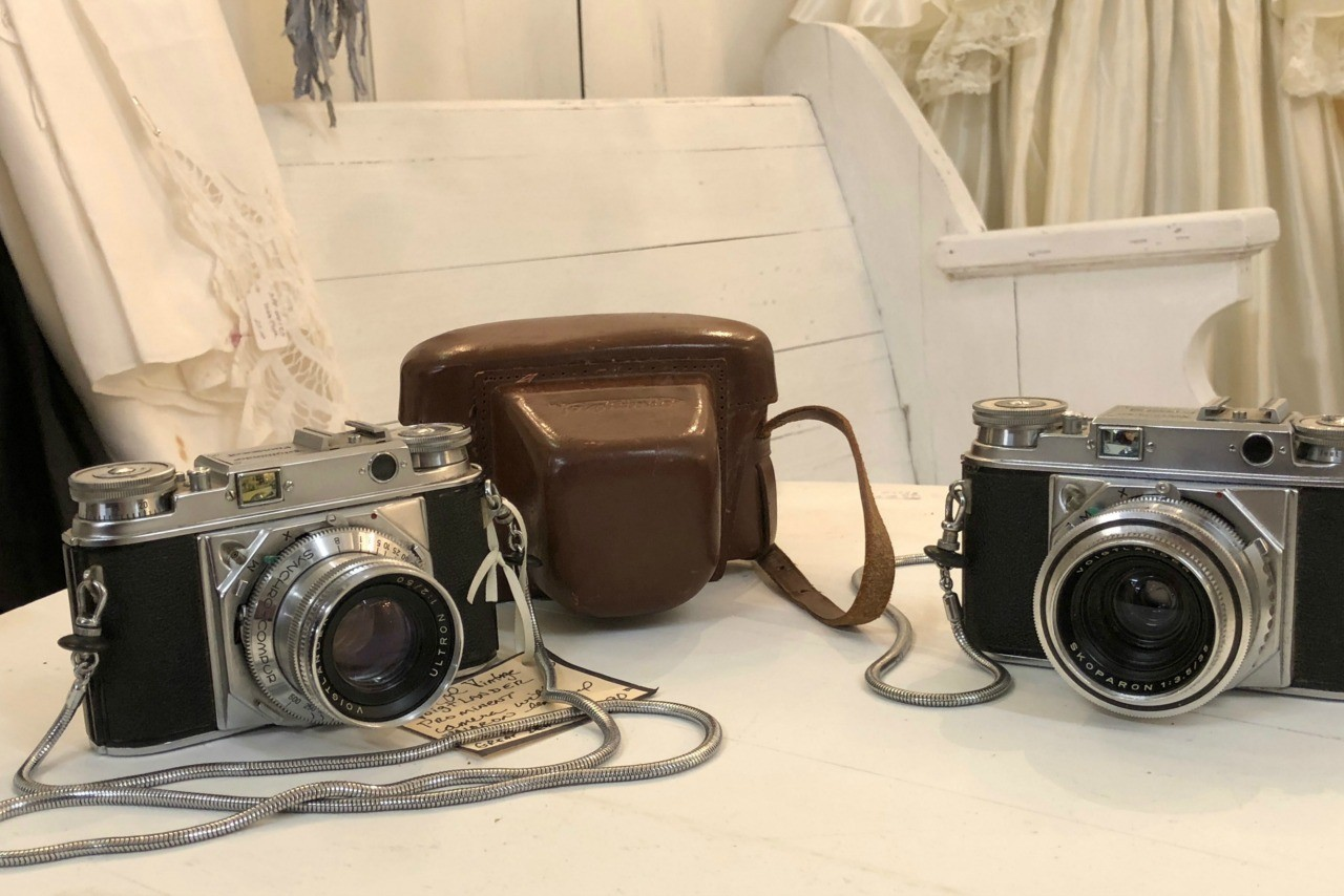 Vintage Cameras with Case