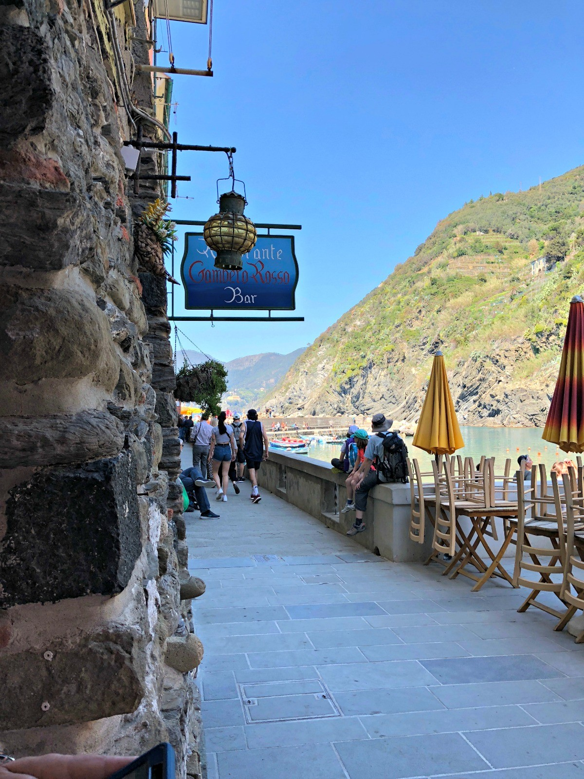 Walkway to Natural Pier Vernazza